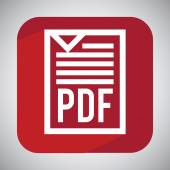 Pdf file design  — Vector de stock