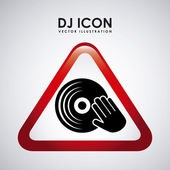 Dj icon design  — Stock Vector