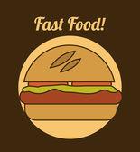 Burger design  — Stock Vector