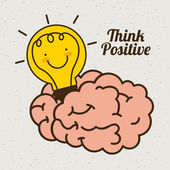 Think positive design — Stock Vector