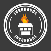 Försäkring design — Stockvektor