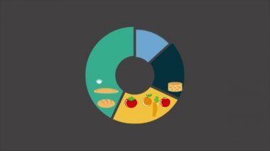 Food infographic — Stock Video