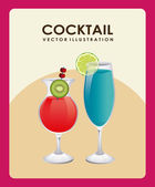 Design cocktail — Vettoriale Stock