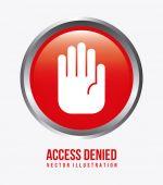 Access denied design  — Stock Vector