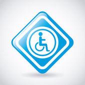 Wheelchair design  — Stock Vector