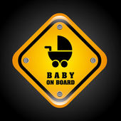 Baby on board design  — Stock Vector