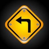 Left turn design  — Stock Vector