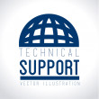 Technical support design — Stock Vector #55118251