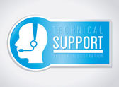 Technical support design — Stock Vector