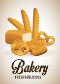 Diseño de panadería — Vector de stock