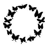 Diseño de la mariposa — Vector de stock