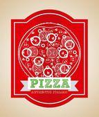 Pizza design  — Stock Vector