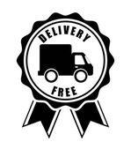 Free delivery design  — Stock Vector