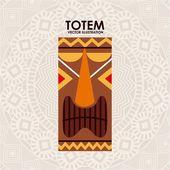 Totem design — Stock Vector
