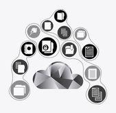 Cloud computing ontwerp — Stockvector