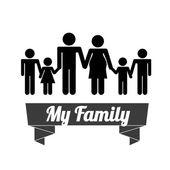 Familie ontwerp — Stockvector