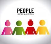 人々 のデザイン — ストックベクタ