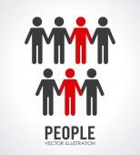 Mensen ontwerp — Stockvector