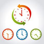 Zeit-design — Stockvektor