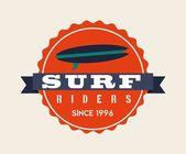 Surf design  — Stock Vector