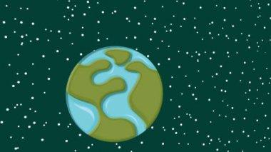 World on ice illustration — Stock Video