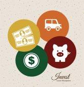 Save money design  — Stock Vector
