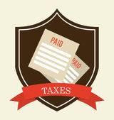 Taxes design  — Vettoriale Stock