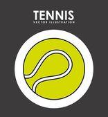 Теннисный дизайн — Cтоковый вектор
