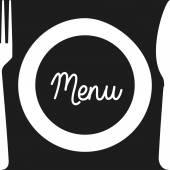 Cutlery menu design  — Stock Vector
