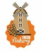 Mill bakery design  — Stock Vector