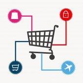 ショッピングのデザイン — ストックベクタ