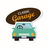 Garage design  — Stock Vector