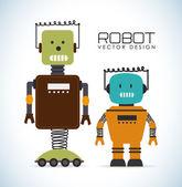 Robot ontwerp — Stockvector