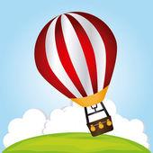 Air balloon design  — Stock Vector