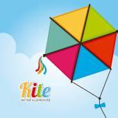 Kite design — Stock Vector