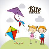 Kite design — Stock Vector