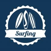 Surf design — Vettoriale Stock
