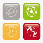Sport balls design  — Stock Vector