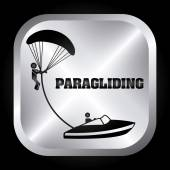 Paragliding design  — Stock Vector