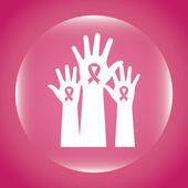дизайн рака молочной железы — Cтоковый вектор