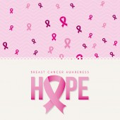 Breast cancer design  — Stock Vector