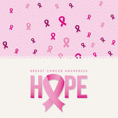 Breast cancer design  — Stockvektor