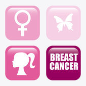 Breast cancer design  — Wektor stockowy