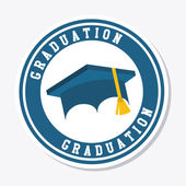 Graduation design  — Stock Vector