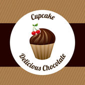 Cupcake design  — Stock Vector