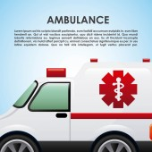 Ambulance design  — Stock Vector