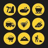 Mine icons design  — Stock Vector
