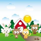 Animal cute design  — Stock Vector