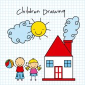 Children drawing design  — Stock Vector