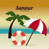 Conception de l'été — Vecteur